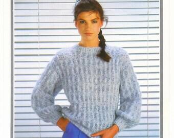 Mohair Sweater Richard Poppleton Vintage Knitting Pattern Ladies Mohair Sweater Original Pattern