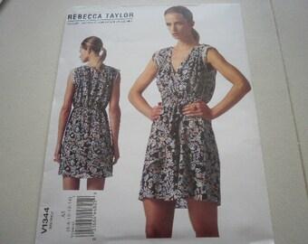 Pattern Ladies Dress Sizes 6 to 14 Vogue 1344