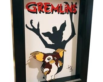 Gremlins Poster Gizmo 3D Art Print Artwork 1980s Movie