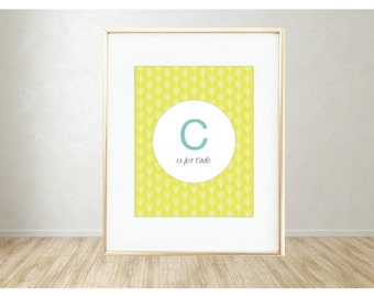 Personalized Printable Art: C is for...