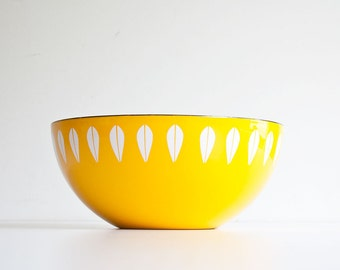 "Large 11"" Vintage Cathrineholm Lotus Bowl - Scandinavian Modern"