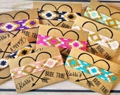 Bride Tribe Favors, Hair Ties, with metallic gold, Personalized Favors