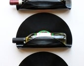Ray Charles Upcycled Vinyl Record Wine Rack/Wall Organizer - Set of 3
