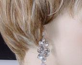 SHOP CLOSING SALE: Ashira Statement Silver Cz Pink Violet Opal Drop Earring with Diamond Zircon Earring Stud