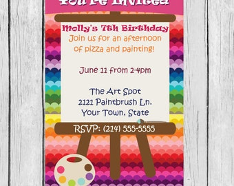 easel invitation-easel party invites, easel party invite, easel party invitations, easel party theme, easel invites, easel, invitation