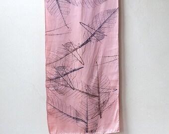 ON SALE Falling Leaves Silk Scarf