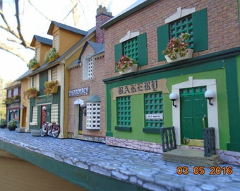 4 Miniature Irish Shops in a row. Available now...