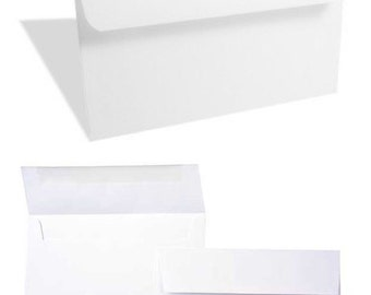 """Bright White A6 Envelopes     Quantity of 25 - Ideal for 4""""x6"""" Photo Cards, Invitations and Notecards"""