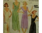"""John Kloss Knit Dress Pattern, 1970s  Fitted, Long, Scoop Neck, Empire Waist, Cap Sleeve, Butterick No. 5706 Size 8 (Bust 31.5""""80cm)"""