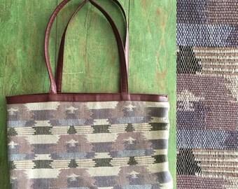40% OFF 1990's Ikat Kilim Tapestry Bag Vintage Shoulder Bag Large Vintage Purse by Maeberry Vintage