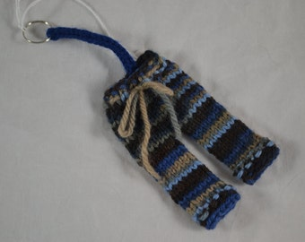 Longie Keychain blues and browns