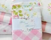 vintage sheet, fabric ribbon, embellishment, vintage style, packaging, shabby chic