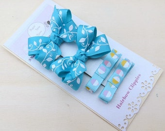 Baby Girls Mini Hairbows and Hairclippies Combination Set