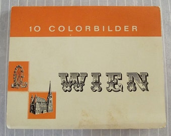 As Is Vintage Vienna Austria Souvenir Photo Postcard Book, Wien Colorbilder, Austrian Color Photos, Vienna Souvenir