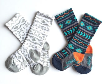 Baby and toddler knee high socks package of 2 Baby socks  Boot Socks in Aztec prints baby shower gift baby gift nordic print