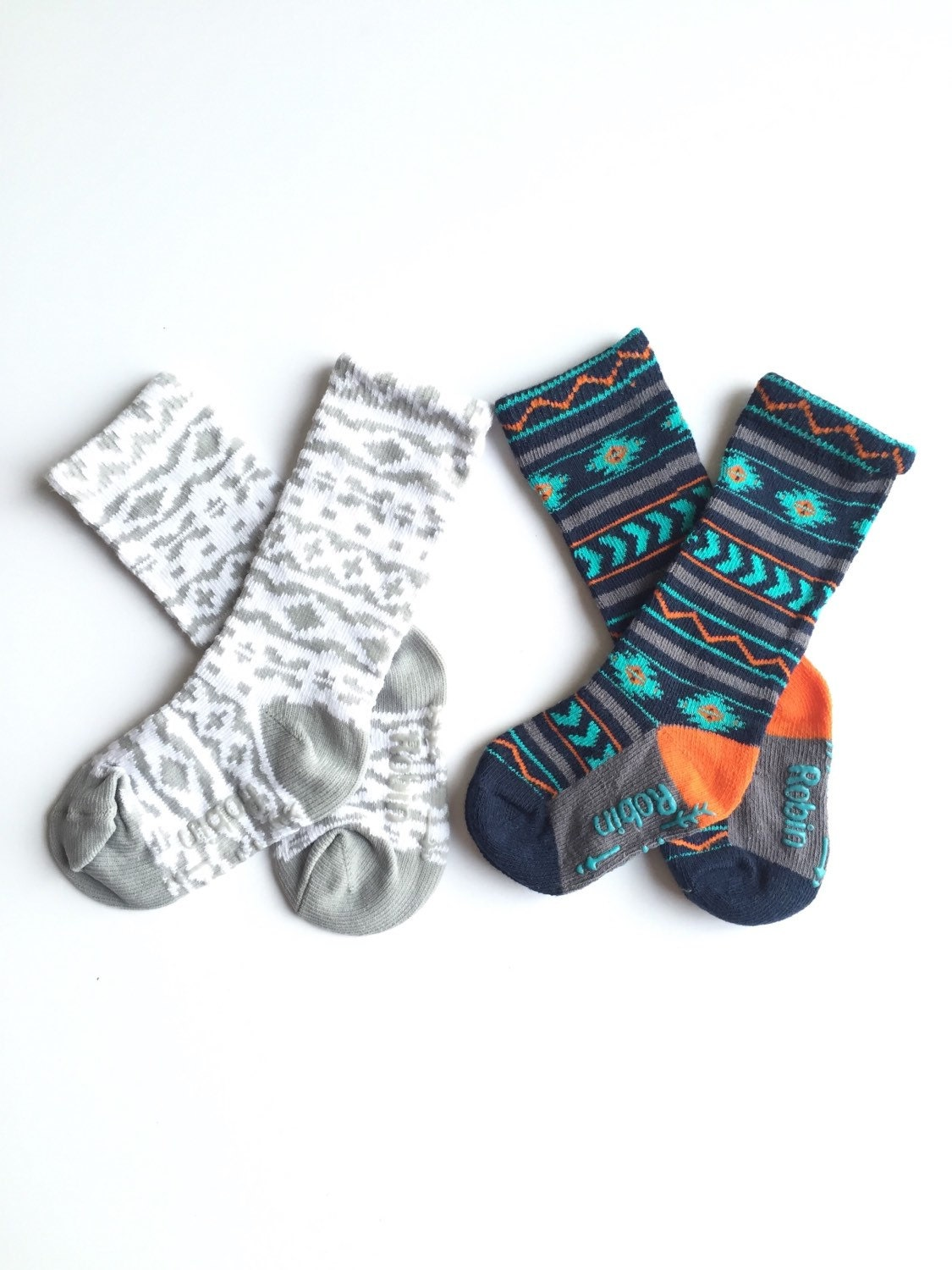 Baby and toddler knee high socks package of 2 Baby socks Boot