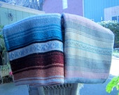 Two Mexican Vintage Blamkets/Cotton Blend Mexican Blankets/ Medium Sized Beach Blankets Picinic Blankets Throw Blankets