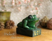 RESERVED Listing for Aleks - Heqet Altar Statue - Ancient Egyptian Fertility Goddess - Handcrafted Kemetic Altar Statue