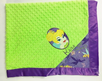Tinkerbell Minky Blanket