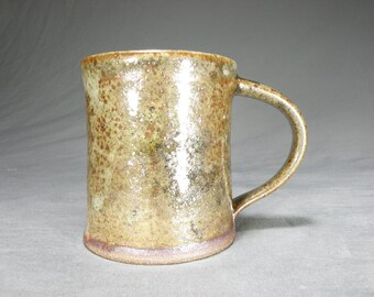 10 oz Coffee cup.  Rustic mug.  Wheel thrown cup.