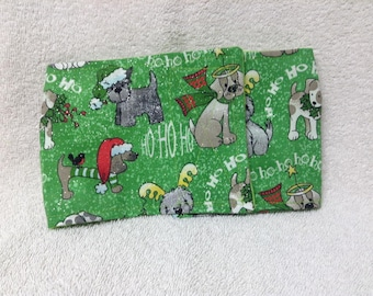 Male Dog Belly Band Diaper Pet Wrap  Pants Green Christmas Doggie Panties Sizes To 30 Inches