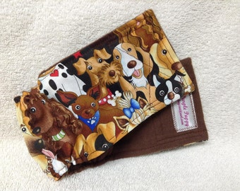 Male Dog Belly Band Pet Diaper Pants Pet Wrap  Brown Doggie Fabric Custom Sizes To 30 Inches