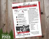 Christmas Newsletter (Red Ribbon)