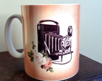Limited Edition Vintage Inspired Camera Mug Photography Photographer Gift Coffee Cup