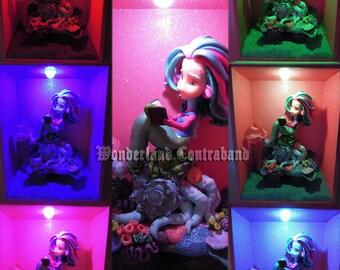 LAST CHANCE - Mermaid Light Show - Original OOAK Miniature Sculpture - Light Decor