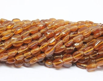 45% GOOD FRIDAY SALE 5 strands, Hessonite Garnet Smooth Polished Oval Beads, 13 inches, 7-8mm, Sku/Bbl