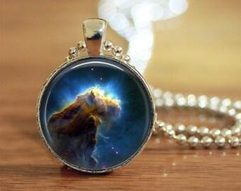 Nebula Pendant, Hubble Image Pendant, Space, Star Maker, Celestial Pendant, Astronomy Pendant,  Astronomy Geek Pendant, Hubble Image Pendant