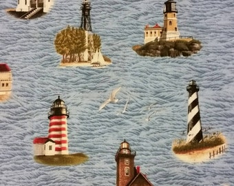 Lighthouse cotton fabric by Cranston
