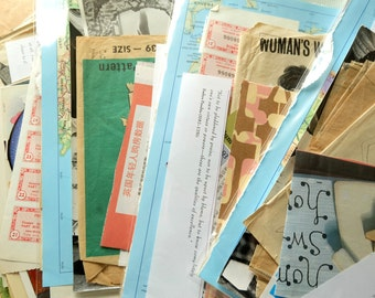 SALE - Collage Bits. Mixed ephemera for seekers of papery-treasure
