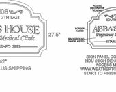 One half down payment for custom sign for Abba's House