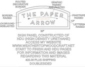 Down payment  for one custom double sided sign for Paper Arrow