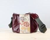 Golden Floral Leather Camera Satchel Bag DSLR - PRE-ORDER