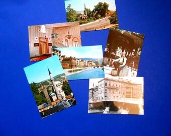 Vintage Sarajevo Postcards, Six Photo Postcards