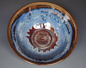 Blue Pottery Bowl Ceramic Bowl Salad Bowl Handmade Pottery A