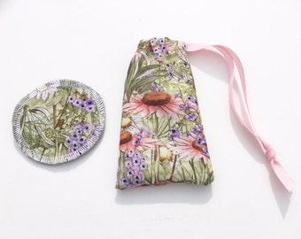 Menstrual Cup Coaster Menstrual Cup Bag Flower Garden