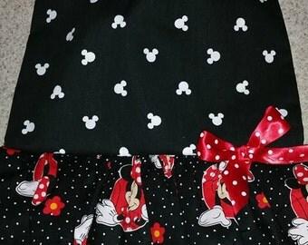 Baby Bib Dress Minnie in Red
