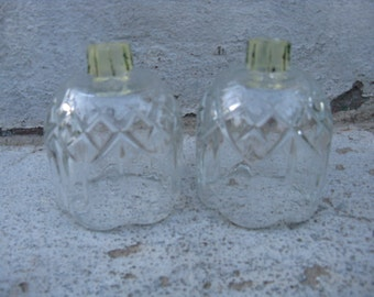 vintage homco votive cups home interiors clear glass votives pressed glass scalloped tops peg votive