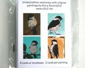 black capped chickadee bird note card set limited edition a2n2koon art stationery note card with envelopes set hostess gift holiday present