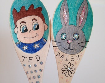 Home Educated Ted and Daisy story spoons