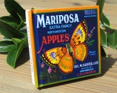 Small Journal - Mariposa Apples  - Fruit Crate Art Print Cover