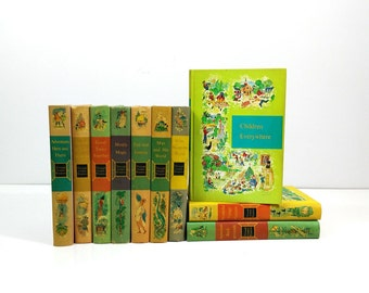 1958 Through Golden Windows Children's Book Set, Complete 10 Volume Set