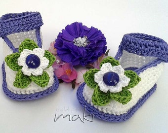 Crochet pattern baby booties - Full of large pictures! Permission to sell finished items. PDF Pattern No. 101