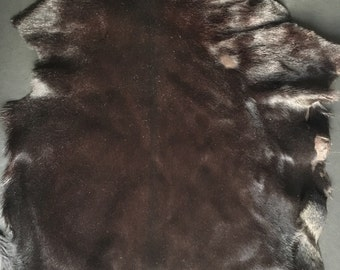 CALF HAIR SKIN-deep chocolate brown