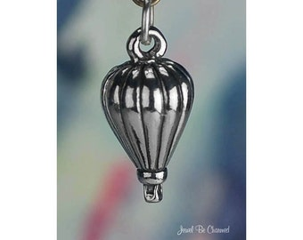 Sterling Silver 3D Hot Air Balloon Charm Ballooning Vacation Solid 925