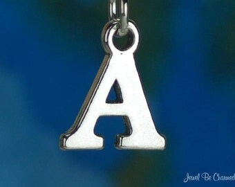 Sterling Silver Capital Letter A Charm Initial Alphabet Solid .925