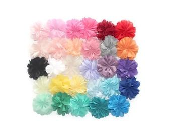 """Headband Flowers - 2 1/2"""" Ballerina Flowers for Headbands - DIY - Fabric Flowers for Headbands - Flowers for Hair - Flower Embellishments"""